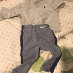 2t Polo sweatshirt and Gap sweatpants - 2t